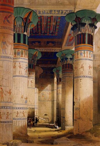 Portico of the Temple of Isis at Philae by David Roberts