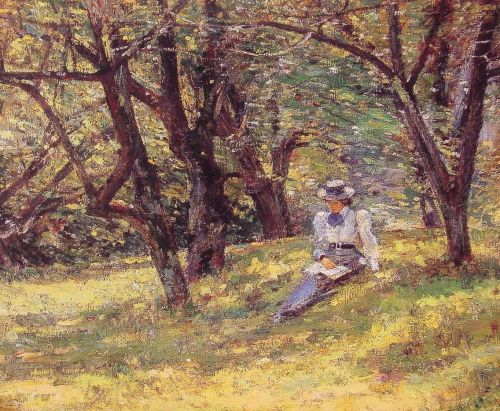 In the Orchard by Theodore Robinson