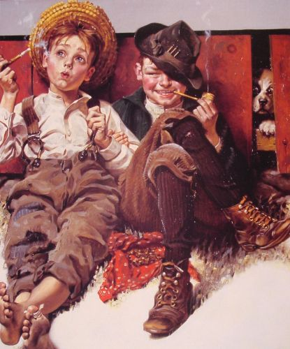 But wait 'til next week by Norman Rockwell