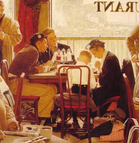 Saying Grace by Norman Rockwell