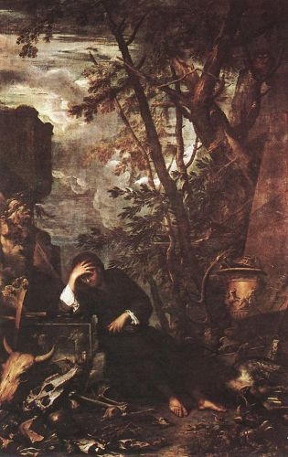 Democritus in Meditation by Salvator Rosa