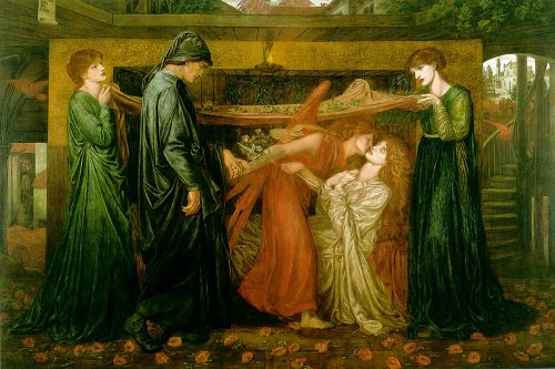 Dante's Dream at the Time of the Death of Beatrice by Dante Gabriel Rossetti