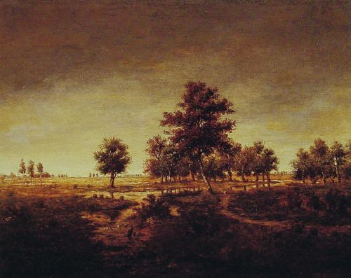 Forest at Fontainebleau by Théodore Rousseau