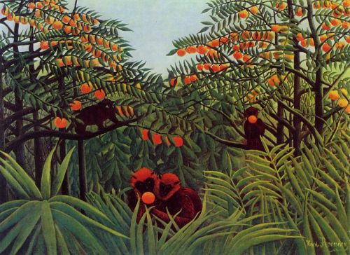 Apes in the Orange Grove by Henri Le Douanier Rousseau