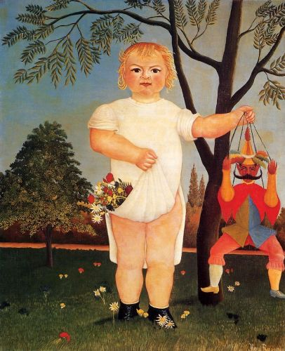 Child with Puppet by Henri Le Douanier Rousseau