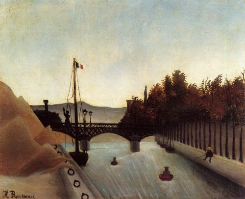Footbridge at Passy by Henri Le Douanier Rousseau