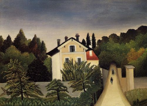 Landscape on the Banks of the Oise, Area of Chaponval by Henri Le Douanier Rousseau