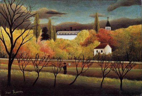 Landscape with Farmer by Henri Le Douanier Rousseau