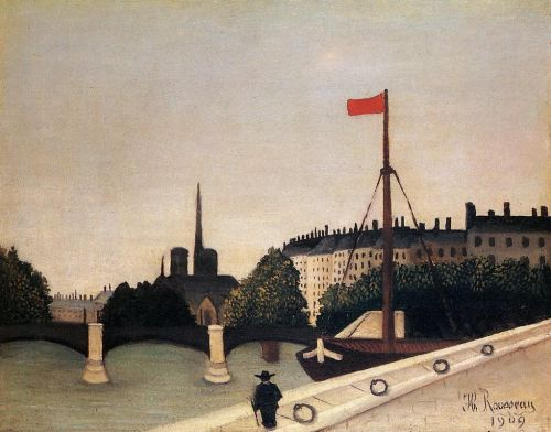 Notre Dame: View of the Ile Saint-Louis by Henri Le Douanier Rousseau