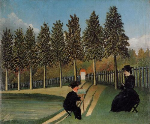 The Painter and His Wife by Henri Le Douanier Rousseau