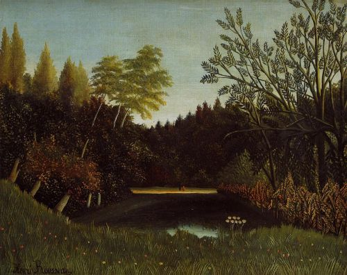 View of the Bois de Boulogne by Henri Le Douanier Rousseau