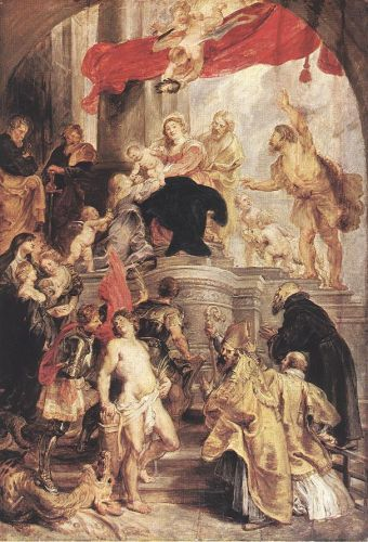 Bethrotal of St Catherine by Peter Paul Rubens