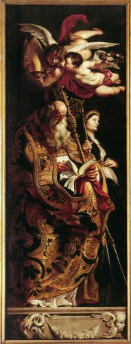 Raising of the Cross: Sts Amand and Walpurgis by Peter Paul Rubens