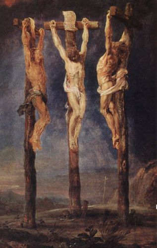 The Three Crosses by Peter Paul Rubens