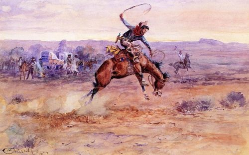 Bucking Bronco by Charles Marion Russell