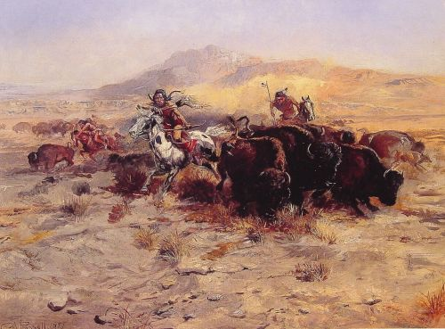 Buffalo Hunt by Charles Marion Russell