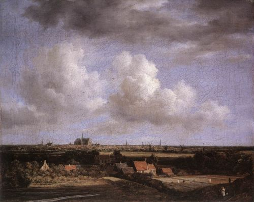 Landscape with a View of Haarlem by Jacob Isaakszoon van Ruysdael
