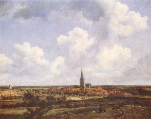 Landscape with Church and Village by Jacob Isaakszoon van Ruysdael