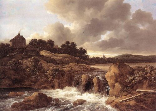 Landscape with Waterfall by Jacob Isaakszoon van Ruysdael