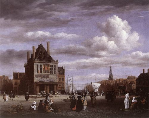 The Dam Square in Amsterdam by Jacob Isaakszoon van Ruysdael