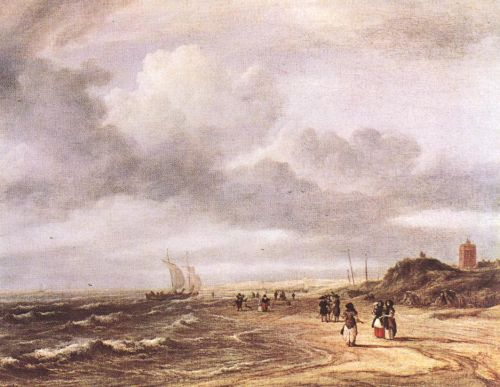 The Shore at Egmond-an-Zee by Jacob Isaakszoon van Ruysdael