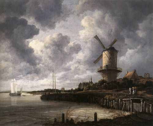 The Windmill at Wijk bij Duurstede by Jacob Isaakszoon van Ruysdael