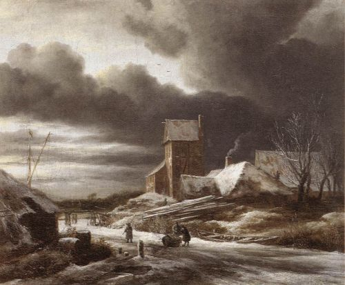 Winter Landscape by Jacob Isaakszoon van Ruysdael