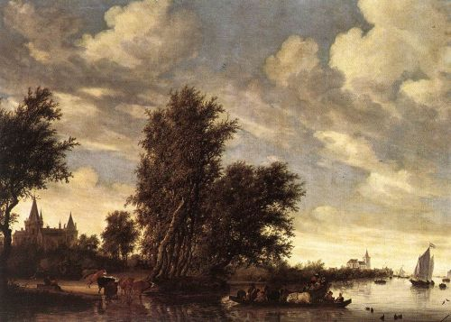 The Ferry Boat by Salomon van Ruysdael