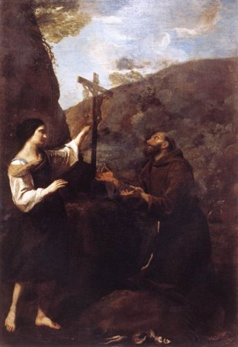 St Francis Marrying Poverty by Andrea Sacchi