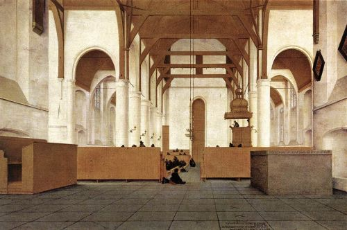 Interior of the Church of St Odulphus in Assendelft by Pieter Jansz Saenredam