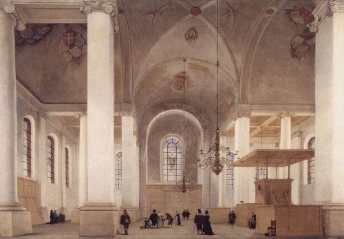 Interior of the Nieuwe Kerk in Haarlem by Pieter Jansz Saenredam