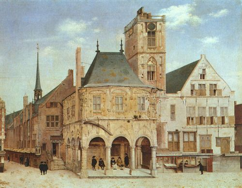 The Old Town Hall in Amsterdam by Pieter Jansz Saenredam