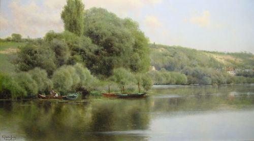 Calm Waters at Chaponval by Emilio Sánchez-Perrier
