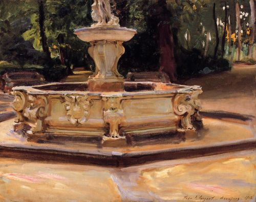 A Marble Fountain at Aranjuez, Spain by John Singer Sargent