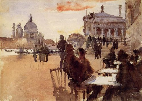 Cafe on the Riva degli Schiavoni by John Singer Sargent