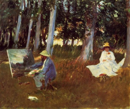 Claude Monet Painting by the Edge of the Woods by John Singer Sargent