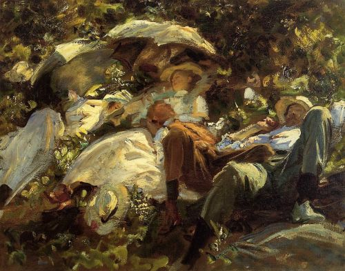 Group with Parasols by John Singer Sargent