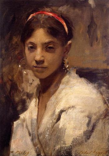 Head of a Capri Girl by John Singer Sargent