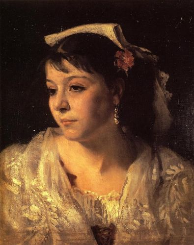 Head of an Italian Woman by John Singer Sargent