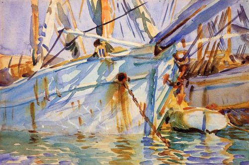 In a Levantine Port by John Singer Sargent