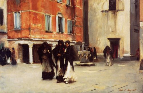 Leaving Church, Campo San Canciano, Venice by John Singer Sargent
