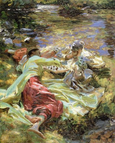 The Chess Game by John Singer Sargent
