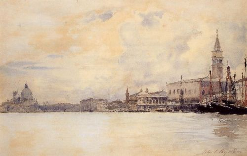 The Entrance to the Grand Canal, Venice by John Singer Sargent