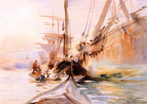 Unloading Boats, Venice by John Singer Sargent