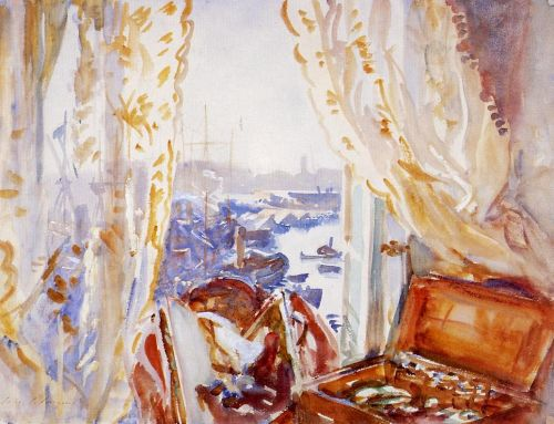 View from a Window, Genoa by John Singer Sargent