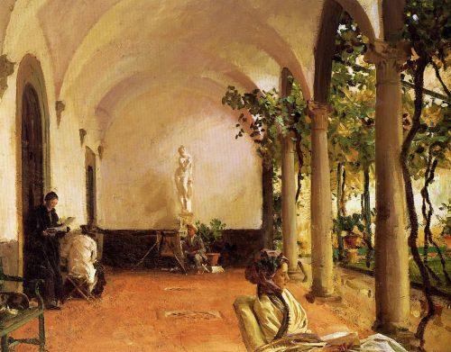 Villa Torre Galli: The Loggia by John Singer Sargent