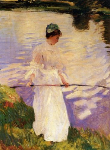 Violet Fishing by John Singer Sargent