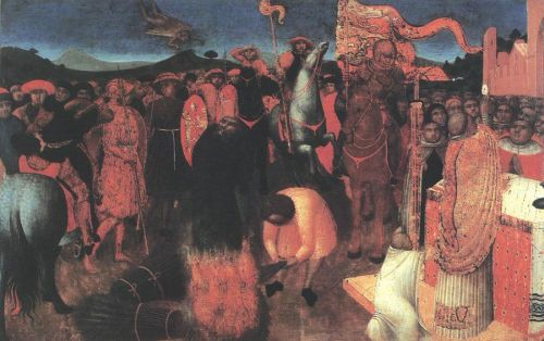Death of the Heretic on the Bonfire by Stefano di Giovanni Sassetta