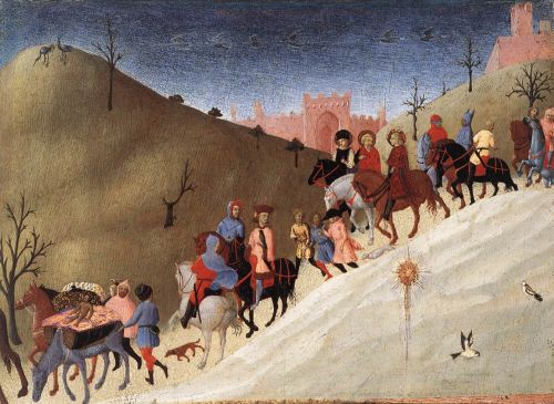 The Journey of the Magi by Stefano di Giovanni Sassetta