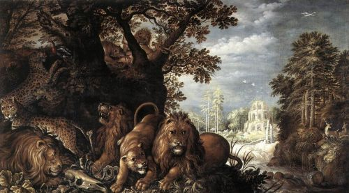 Landscape with Wild Animals by Roelant Savery
